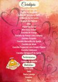 Cardápio especial p/ Dia dos Namorados