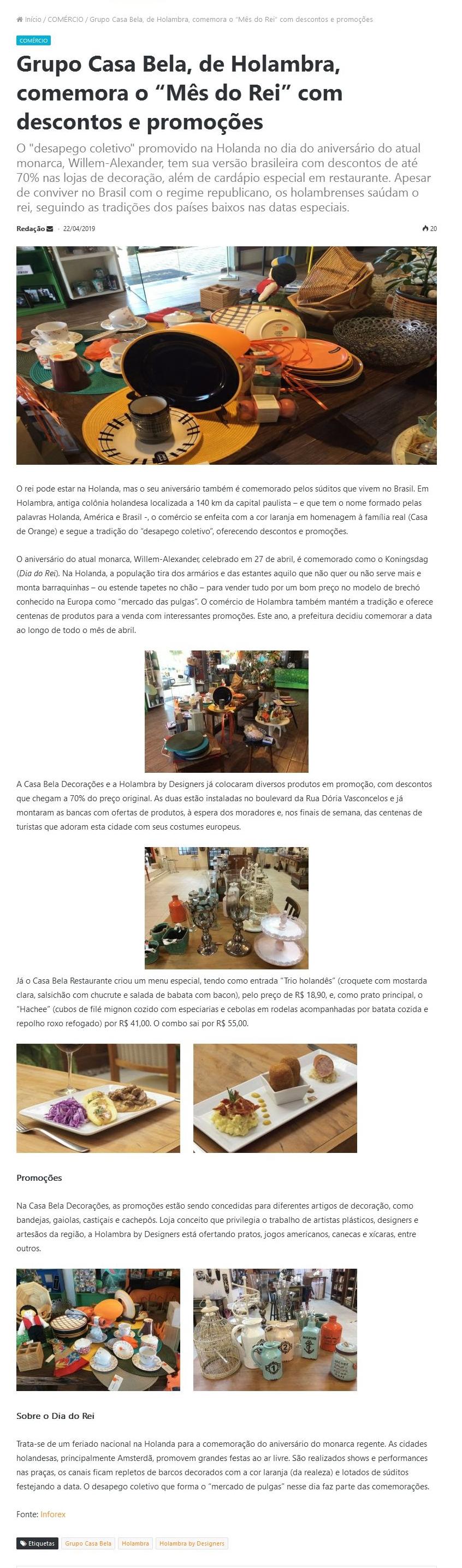 6173d25ff Clippings - Grupo Casa Bela - Holambra - Ateliê da Notícia