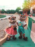 A família esquilo é uma das atrações do mês de abril no Ski Park